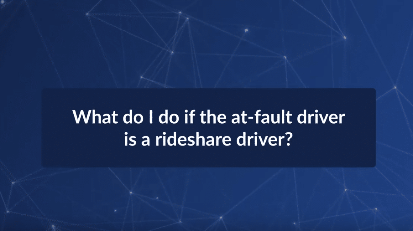 What Do I Do If the At-Fault Driver is A Rideshare Driver?
